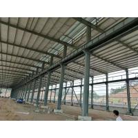 Quality Fire Resistance Steel Structure Workshop With Grey Or Blue Color Steel Claddings for sale