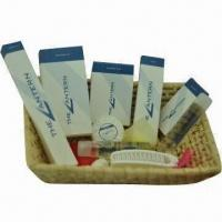 Quality Hotel Amenities with Hair Conditioner, Bath Gel, Shampoo, Hotel Soap, Body Lotion and Shave Kit for sale
