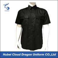 Cool Short Sleeve Slim Fit Security Officer Shirts For Men / Women