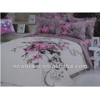 Quality bedding sets,embroidery polyester quilt polyester quilted bedspread,filling with cotton or polyester for sale