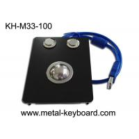 Buy cheap Panel Mount Industrial Pointing Device Black Metal Trackball IP65 Smooth from wholesalers