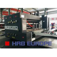 Quality Lead Edge Flexo Printing Die Cutting With Slotting Combined Machine for sale