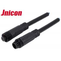 Quality Jnicon M12 Waterproof Wire Connectors , Waterproof 2 Pin Male Cable Connector for sale