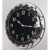 Quality High Quality modern design Mosaic Wall Clock,black mosaic 18inch for sale