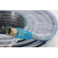 Quality Terminated RG6 CATV Cable with Two Golden F Connectors for Satallite System Use for sale