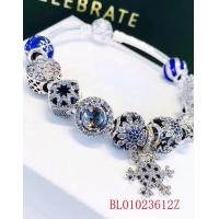 Quality 925 silver jewlery 1:1   925 sterling silver bracelet with sky blue beads,OEM accpet for sale