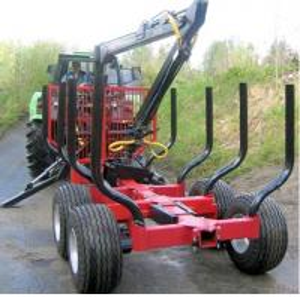 log trailer with crane forestry machine, Farma Forest Trailer, Farma Log Crane