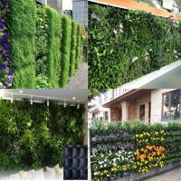 Quality PE Fabric Reusable Hanging Flower Bags , Vertical Garden Planters For Vegetable for sale