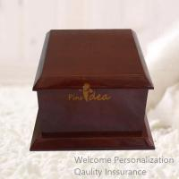 Quality Good Quality Birch Wood Warm Mahogany Normal Traditional Pet Cremation Urn, Small Order, Quality Guarantee for sale