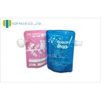 Quality PET / PE 4.5Mil Stand Up Children Food Packaging Resealable Multilayer Material for sale