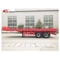 Quality FEA Analysis 40 Foot Flatbed Trailer , PRO - E Design Extendable Flatbed Trailer for sale