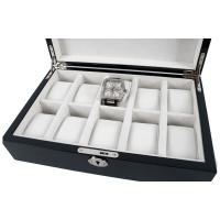 Quality Piano Black Luxury 10 Watch Storage Case for sale