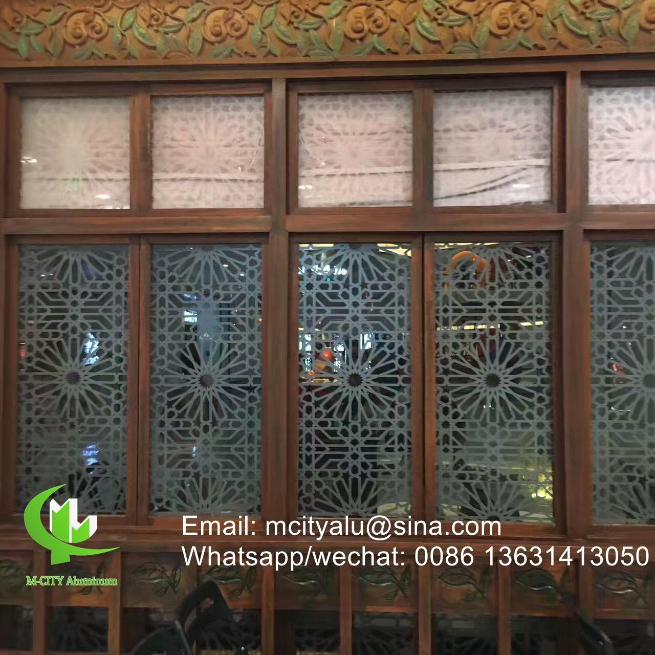 Quality Aluminum perforated sheet for window screen room divider fence with 2mm thickness laser cut screen for sale