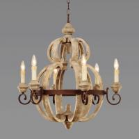 Quality Industrial Grey Wood Chandelier for Indoor home lighting (WH-CI-13) for sale