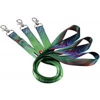 Quality Single Custom Cotton Lanyards Floating Carabiner Mixed Blue Colors 125mm Length for sale