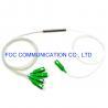 Buy cheap Mini Tube Low PDL 1×4 PLC Splitter G.657A PVC SC APC Connectors from wholesalers