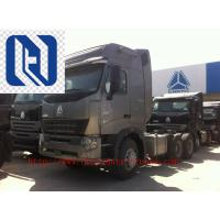 Quality 420HP HOWO A7 Prime Mover Truck Trailer , Diesel 6x4 Transport Trucks , Wild Black for sale