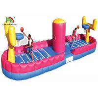Quality Colorful Durable PVC Inflatable Sports Games Bungee Basketball Shooting Playground for sale