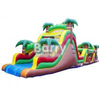 China Jungle Inflatable Obstacles Courses / Obstacle Course Jumpers With Slide wholesale