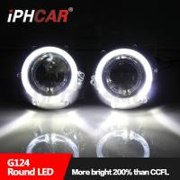 Quality High quality auto parts super bright led light guide angel eyes 3.0 inch hid projector lens for H4 car kits for sale