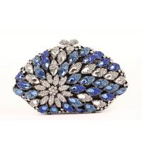 Elegant Flower Pattern Stone Clutch Bag Custom Pearl Beaded For Weddings