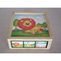 China Wholesale Best Animal Jigsaw Puzzle Rubber Childrens Wooden Building Blocks for Toddler on sale