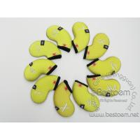 Buy cheap Embossed Neoprene Golf Iron Bags 10 pcs per sets with visible window from wholesalers