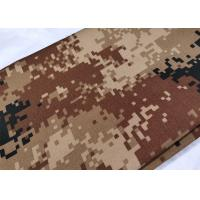 Quality Cotton High Strength Army Digital Camo Fabric Wrinkle Resistance 200 Gsm for sale