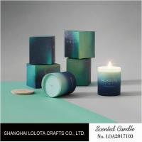 Gradient Color Soy Wax Handmade Jar Candles Aurora Sky Green Bottle Non Toxic