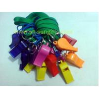 Buy cheap Plastic Whistle with Lanyard,Colorful Whistle Strap from wholesalers