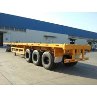 Quality 3 axles 40ft container semi trailer flatbed trailer discount for sale