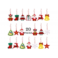 China Home Door Decorations 20 Pieces Felt Christmas Tree Ornaments on sale