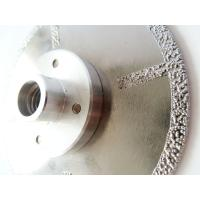 Quality Fast Cutting Vacuum Brazed Diamond Blades With Flange , Diamond Saw Blades For Stone for sale