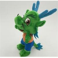 Quality Stuffed Plush Toys Cartoon Character dragon in green OEM ODM service for sale