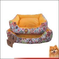 Washable Dog Bed Canvas fabric dog beds with flower printed China manufacturer