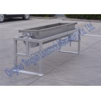 China Floor Mouting Stainless Steel Water Tank 2000 Liter 4 Holes Design on sale