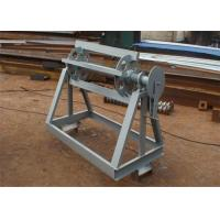 Manual Operate Simple Sheet Metal Decoiler For Light Coils Width Customized