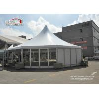 Buy cheap Conference High Peak Tents Tent Flame Retardant With Wooden Floor from wholesalers