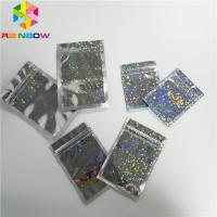 Quality Hologram Foil Pouch Packaging Heat Seal Star Flash Mylar Plastic Three Side Seal Zipper Bag for sale