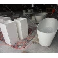 Quality Corian acrylic solid surface pedestal wash basin for sale