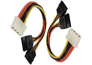 Quality 4 Pin IDE Female Molex to Dual SATA Power Y Adapter Cable for sale