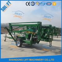 Buy Portable Electric Mobile Tow Behind Boom Lift , 10M Tow Behind Cherry Picker at wholesale prices