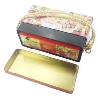 Quality 4C Offset Printing Empty Metal Food Can With Portable Handle for sale