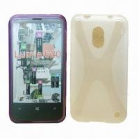 Quality Cellphone Cases for Nokia Lumia 620, Made of TPU, with X Shape Pattern, Various Colors are Available for sale