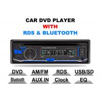 Quality Bluetooth Car Stereo Dvd Player Single Din Fixed Panel Front Aux Input for sale