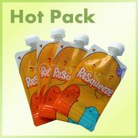 Resealable Foil Stand Up Pouch With Spout , Refillable Baby Food Pouches