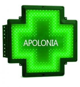 Quality Green Border Pharmacy Cross Sign IP65 Waterproof Black Bracket Luminous Effects for sale
