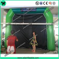 Quality High Quantity Green Inflatable Paint Booth, PVC tarpulin Inflatable Booth Tent for sale