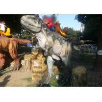 Quality Silicon Dioxide Sit And Ride Dinosaur, Childrens Sit On Dinosaur Head Moving Left To Right for sale