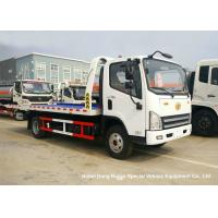 Quality FAW 3 Ton Road Wrecker Tow Truck / Transporter Recovery Truck With Crane EURO 5 for sale